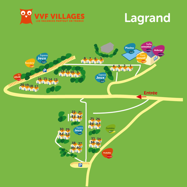 Plan du village de Lagrand