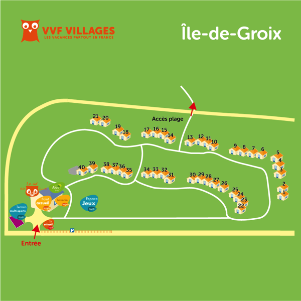 Plan du village de Groix