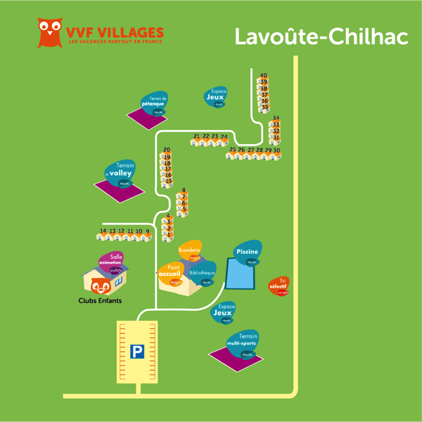 Plan du village de Lavoûte-Chilhac