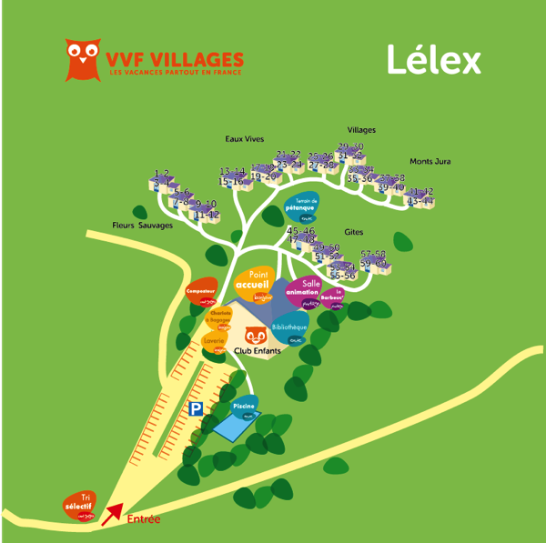 Plan du village de Lelex
