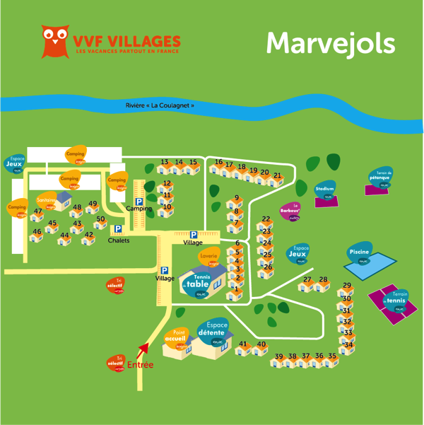 Plan du village de Marvejols