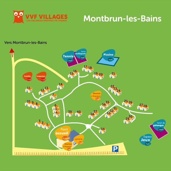 Plan du village de Montbrun-les-Bains