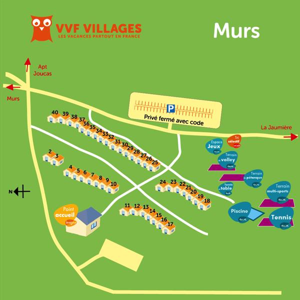 Plan du village de Murs
