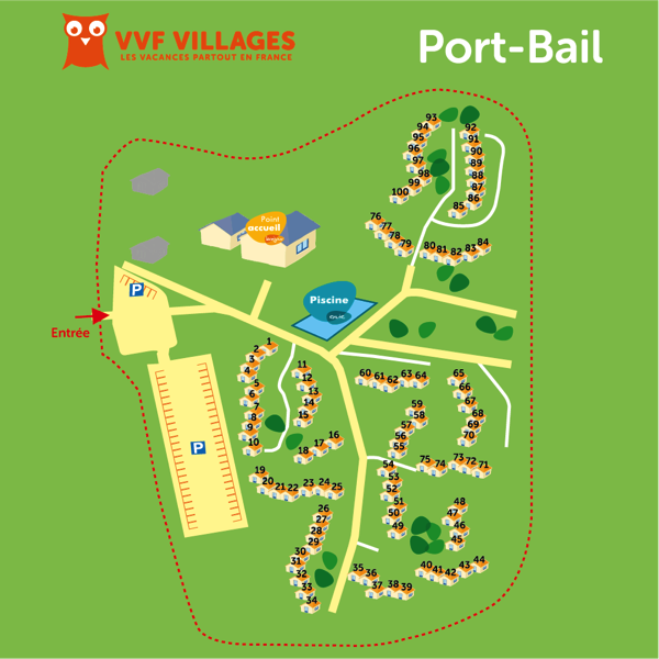 Plan du village de Port-Bail