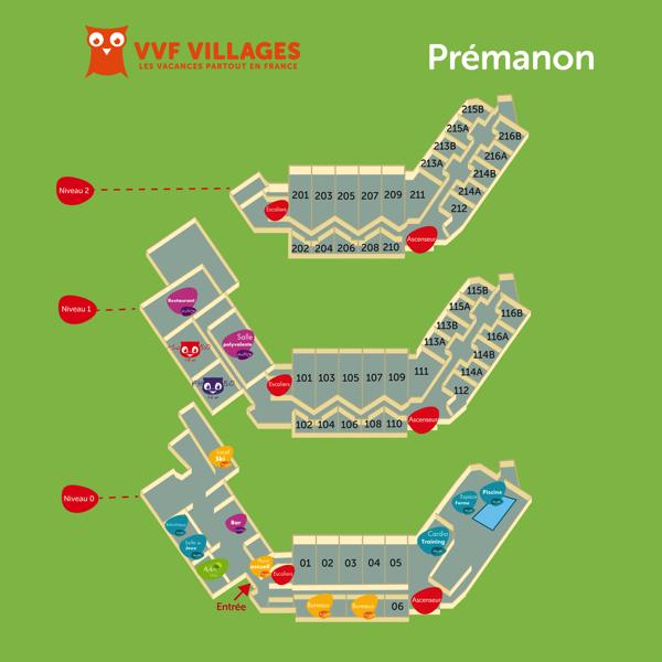 Plan du village de Prémanon