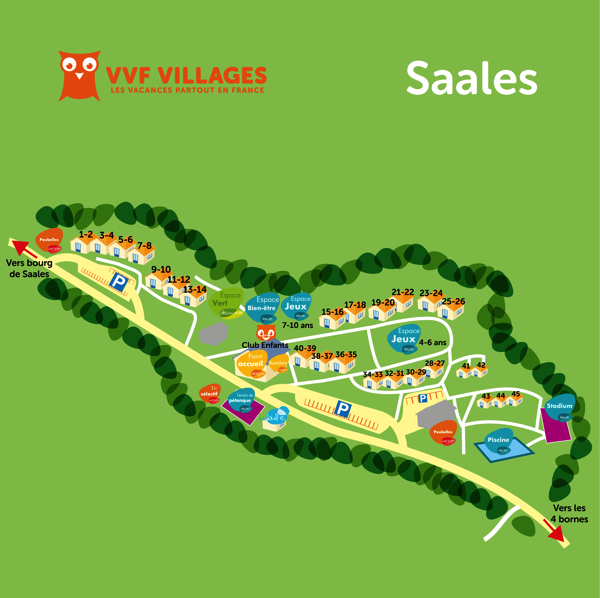 Plan du village de Saales