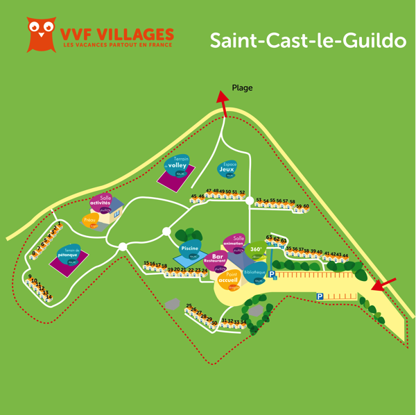 Plan du village de Saint-Cast-le-Guildo