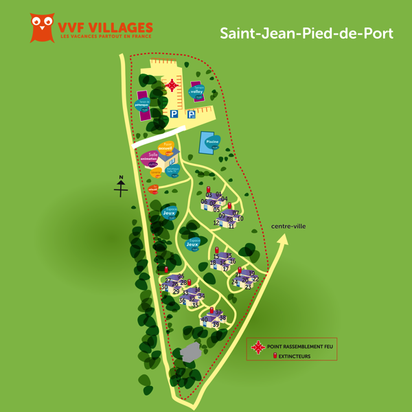 Plan du village de Saint-Jean-Pied-de-Port