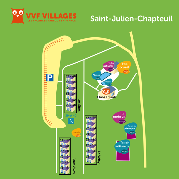 Plan du village de Saint-Julien-Chapteuil
