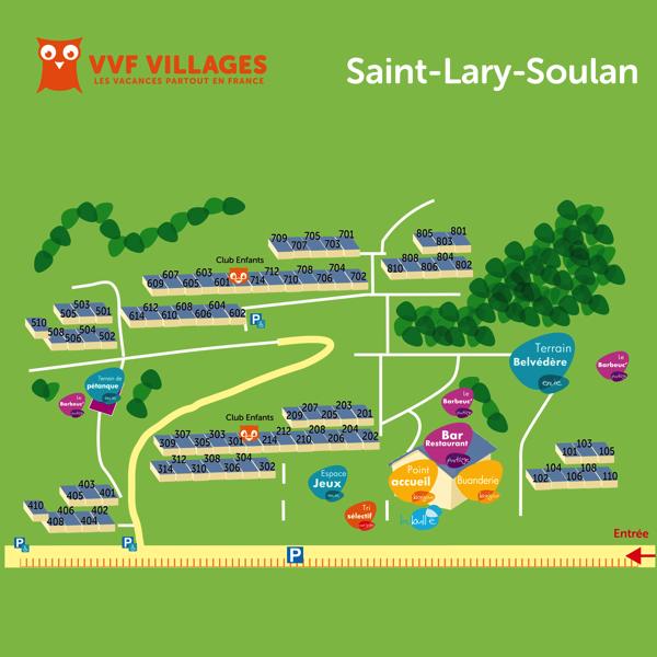 Plan du village de Saint-Lary-Soulan