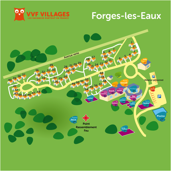 Plan du village de Forges-Les-Eaux