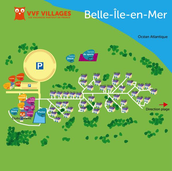 Plan du village de Belle-Île-en-Mer