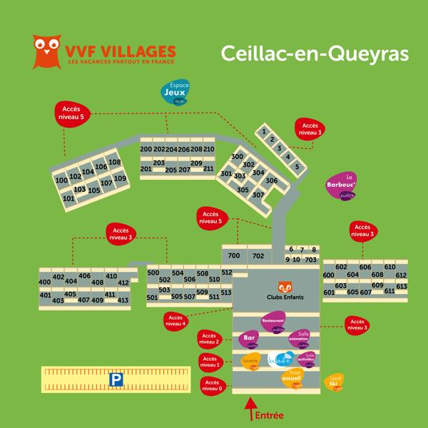 Plan du village de Ceillac-en-Queyras