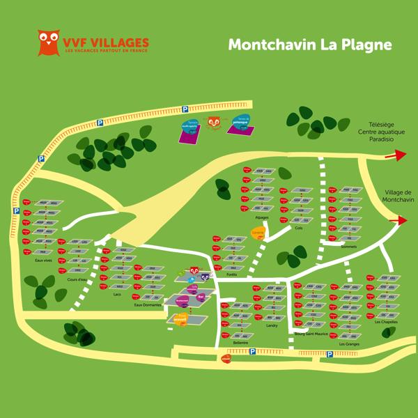 Plan du village de Montchavin-La-plagne