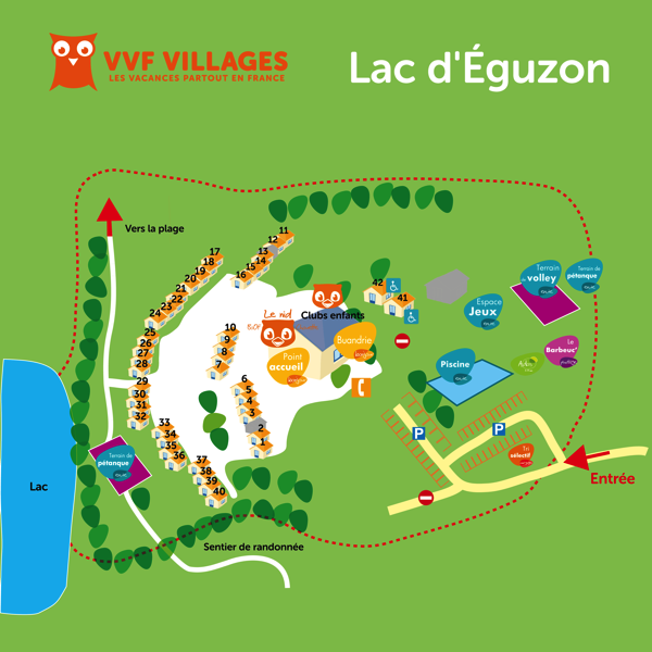 Plan du village de Eguzon