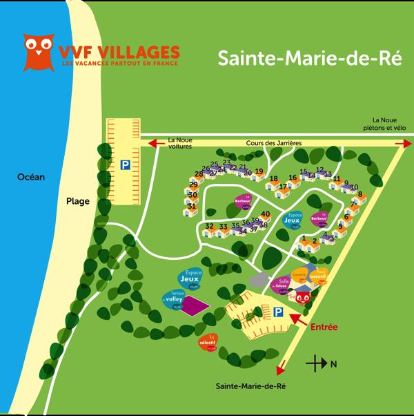 Plan du village de Sainte-Marie-de-Ré