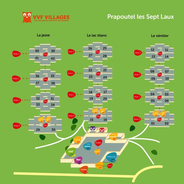 Plan du village de Prapoutel-Les-7-Laux
