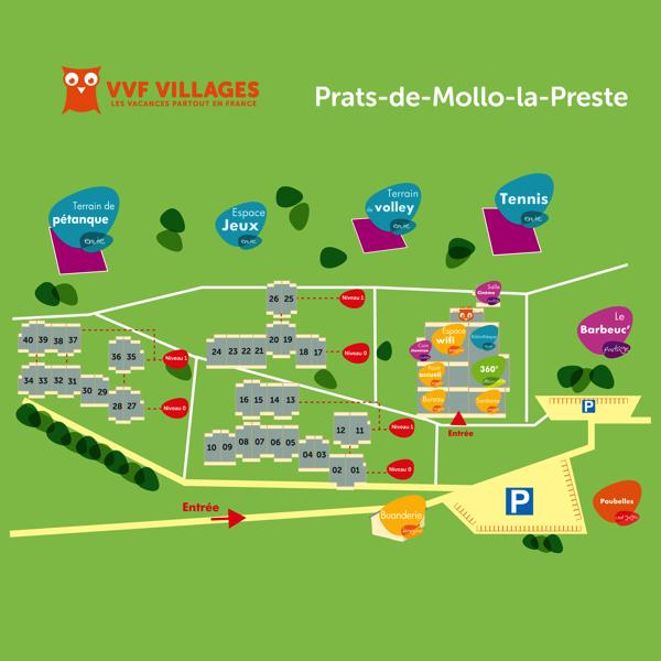 Plan du village de Prats-de-Mollo-la-Preste