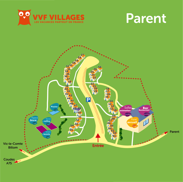 Plan du village de Parent