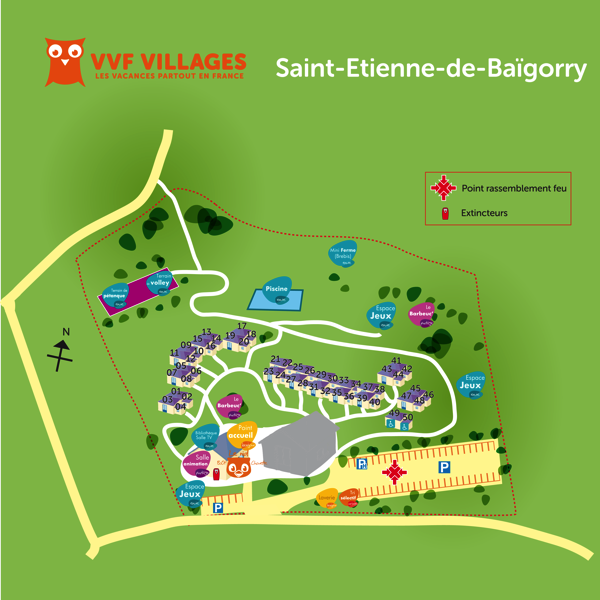 Plan du village de Saint-Etienne-de-Baïgorry