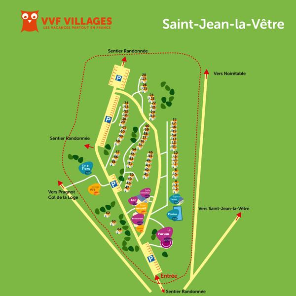 Plan du village de Saint-Jean-la-Vêtre