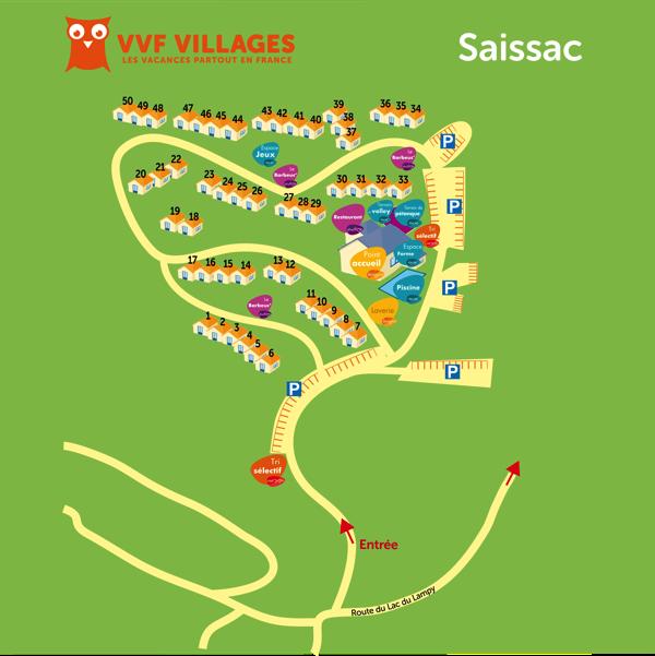 Plan du village de Saissac