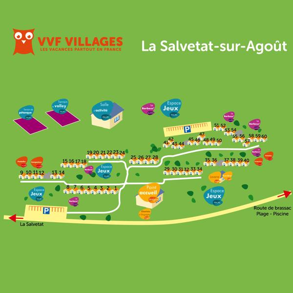 Plan du village de La Salvetat-sur-Agout
