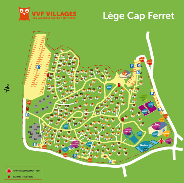 Plan du village de Lège-Cap-Ferret