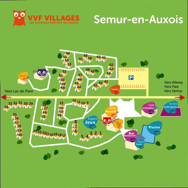 Plan du village de Semur-en-Auxois