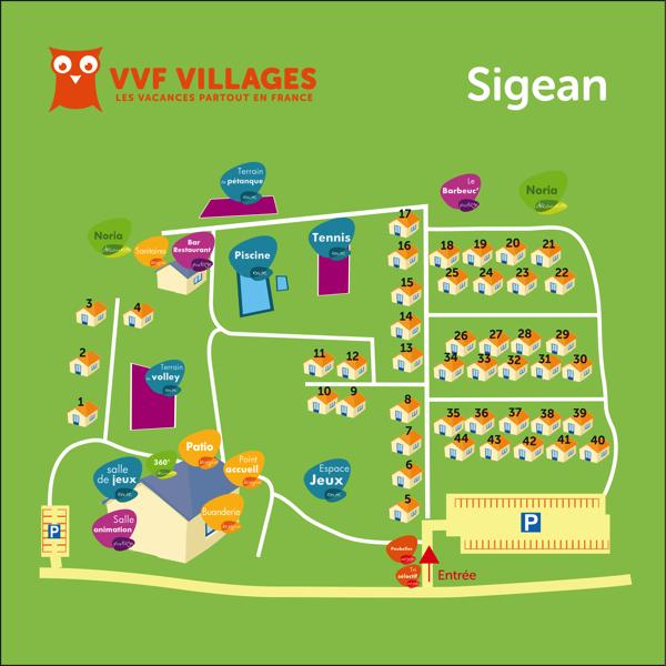 Plan du village de Sigean