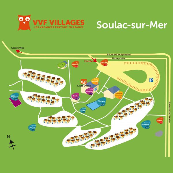 Plan du village de Soulac-sur-Mer