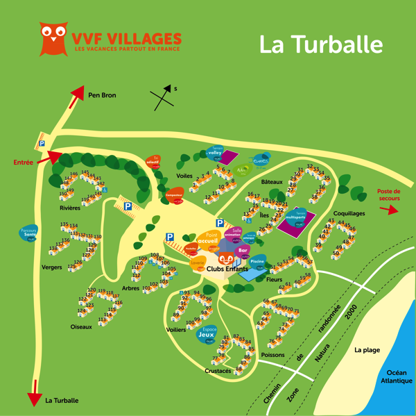 Plan du village de La Turballe