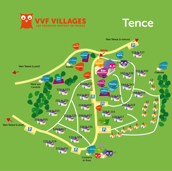 Plan du village de Tence