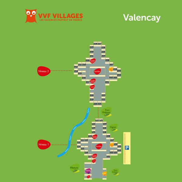 Plan du village de Valençay