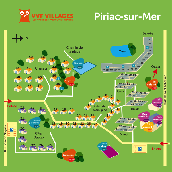 Plan du village de Piriac