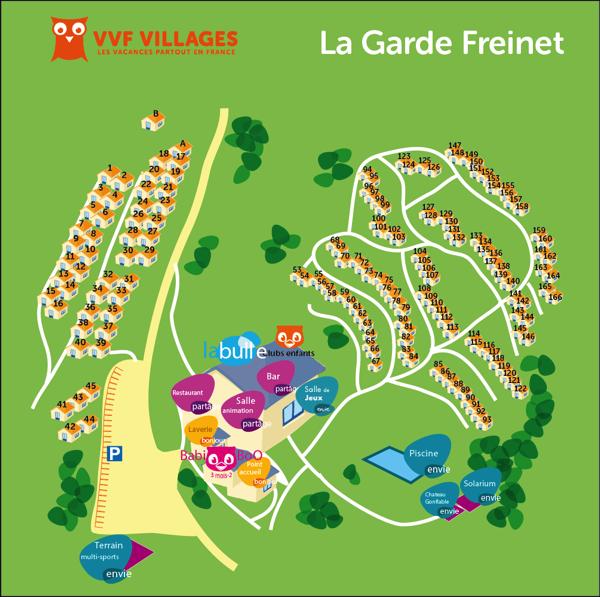 Plan du village de La Garde Freinet