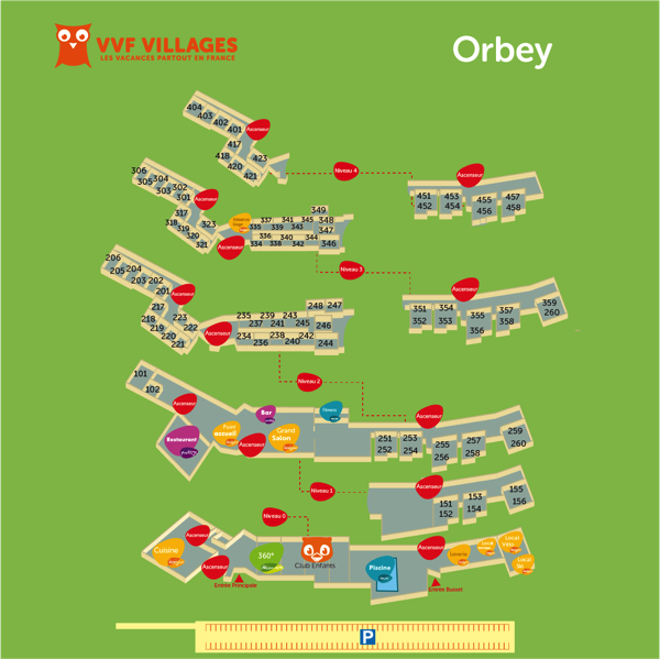 Plan du village de Orbey
