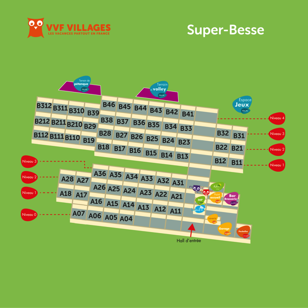 Plan du village de Super-Besse