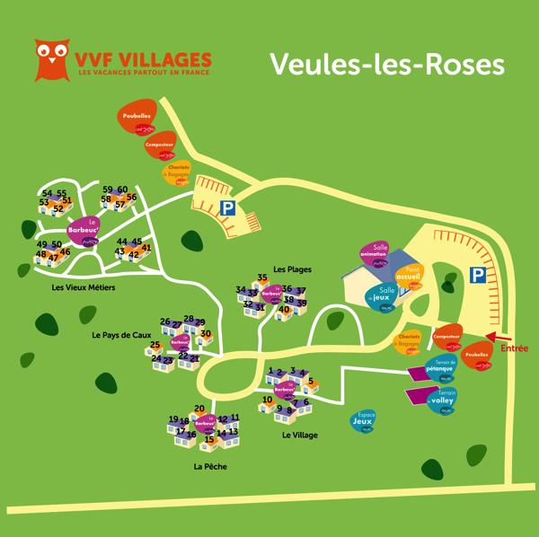 Plan du village de Veules-les-Roses