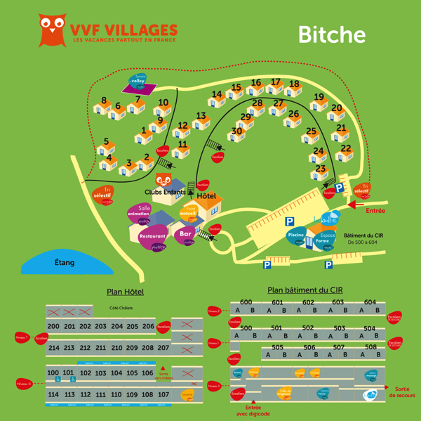 Plan du village de Bitche