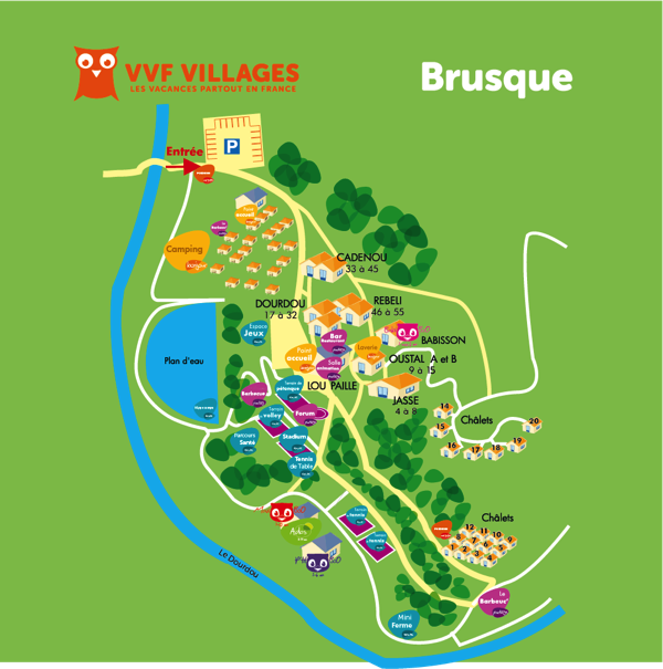 Plan du village de Brusque