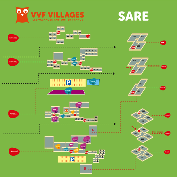 Plan du village de Sare