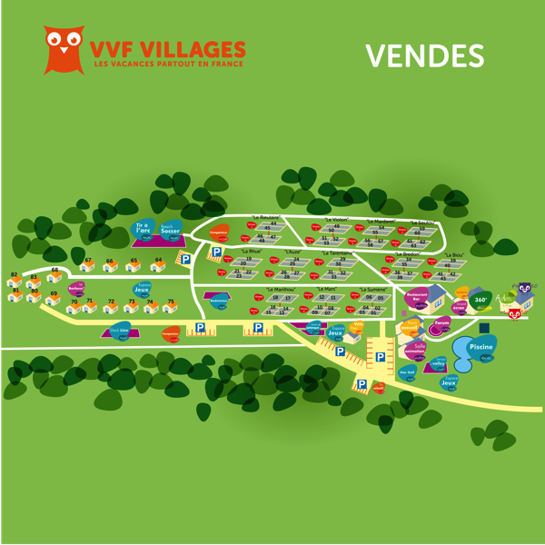 Plan du village de Vendes