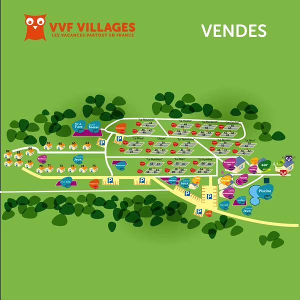 Plan du village de Vendes