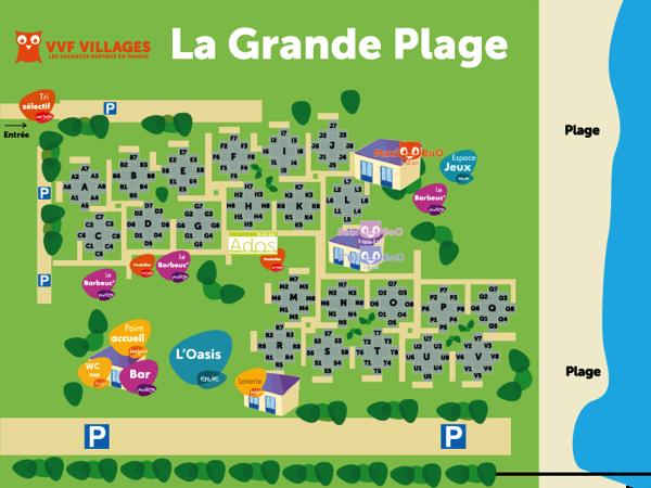 Plan du village de La Grande Plage