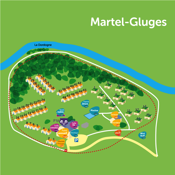 Plan du village de Martel-Gluges