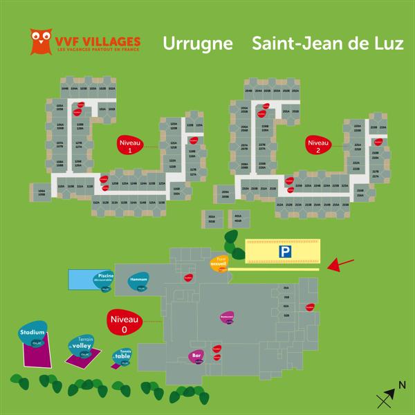 Plan du village de Urrugne Saint-Jean-de-Luz