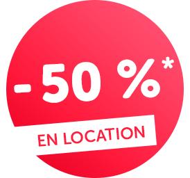 En location jusqu'à - 40 %*