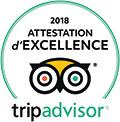 Certificat d'Excellence TripAdvisor 2018