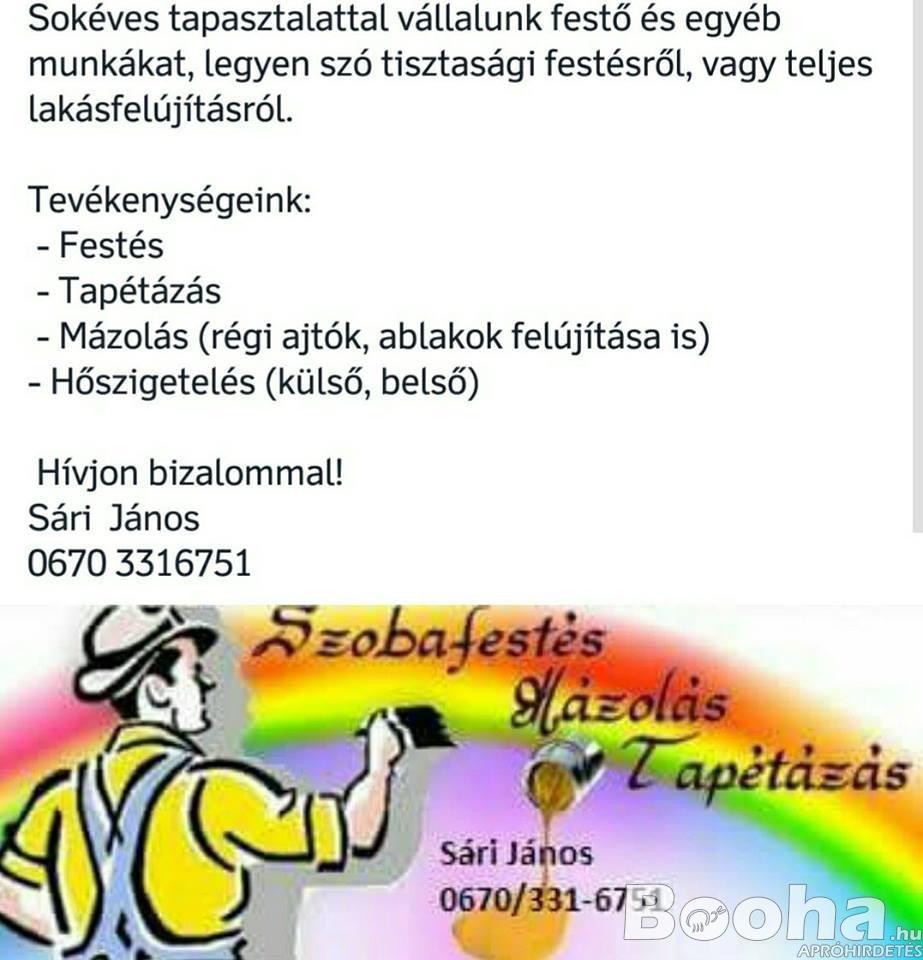 FESTÉS - MÁZOLÁS - TAPÉTÁZÁS